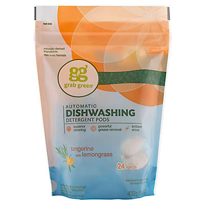 Grab Green Automatic Dishwashing Detergent in Tangerine with Lemongrass