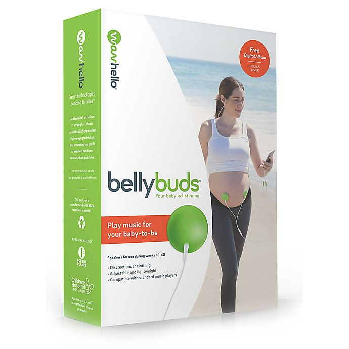 Alternate image 1 for Bellybuds® by WavHello Baby-Bump Sound System