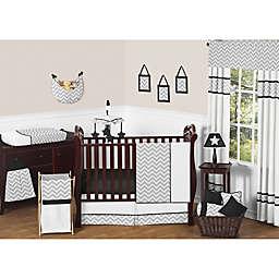 Sweet Jojo Designs Zig Zag Crib Bedding Collection in Grey/Black