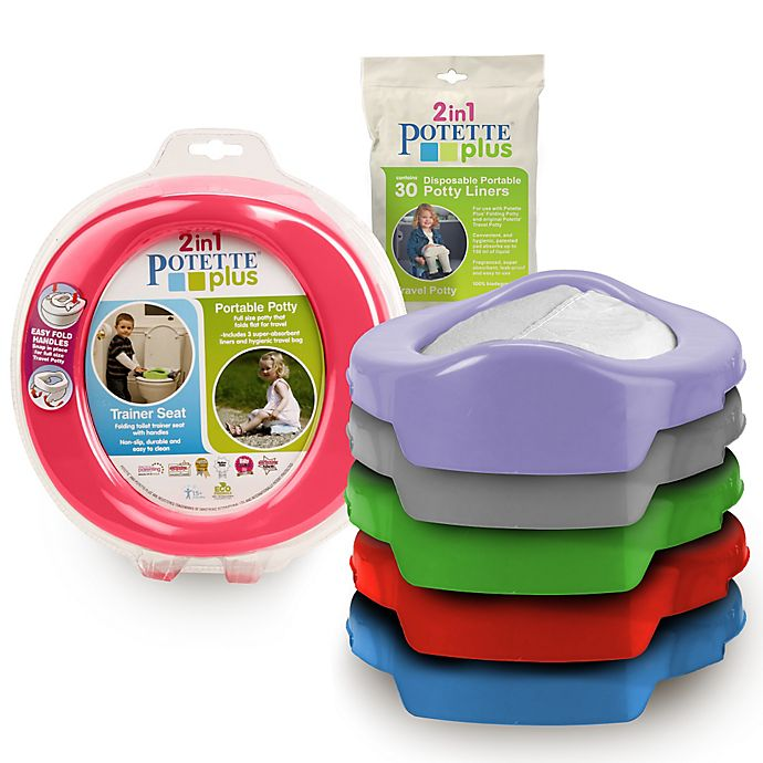 Alternate image 1 for Potette® Plus 2-in-1 Travel Potty and Trainer Seat