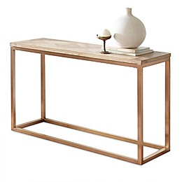 Steve Silver Co. Gino Wood Parquet Sofa Table in Driftwood