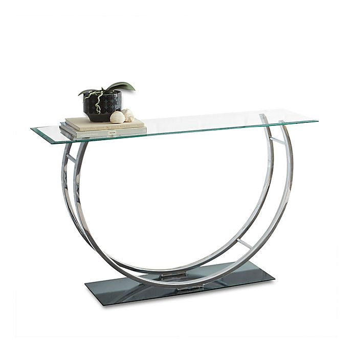 Natalie Sofa Table In Chrome