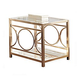 Steve Silver Co. Olympia Chrome & Glass End Table