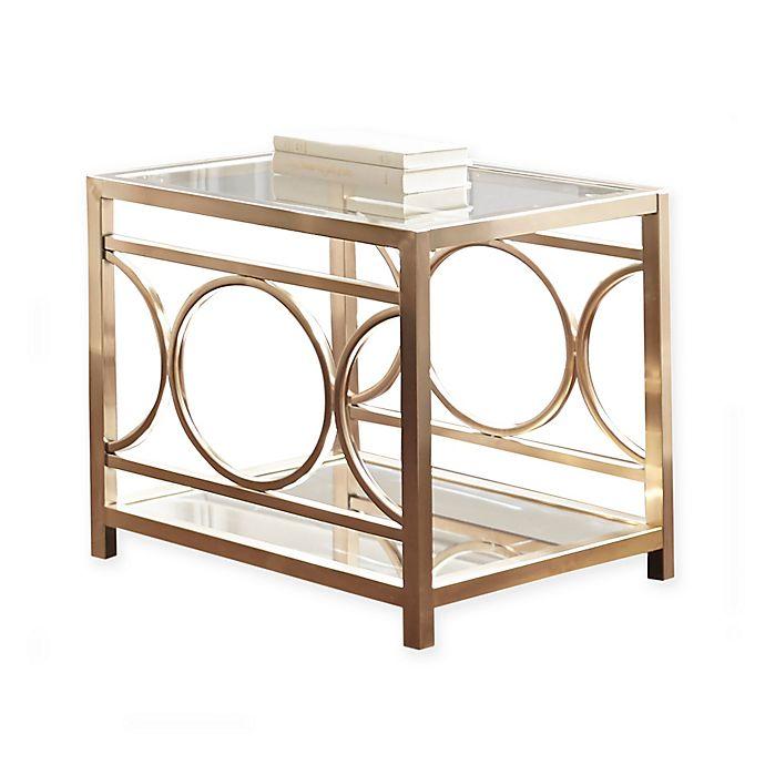 Steve Silver Co. Olympia Chrome & Glass End Table