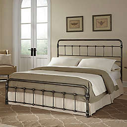Fashion Bed Group Fremont Complete Bed in Weathered Nickel