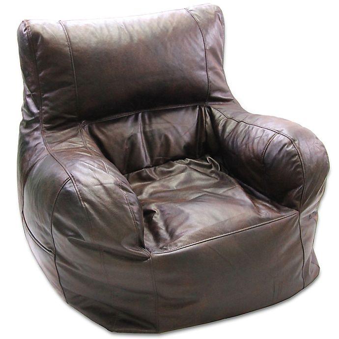 Large Arm Chair Bean Bag Chair in Brown | Bed Bath & Beyond