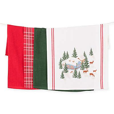 Winter Village 4-Pack Kitchen Towels