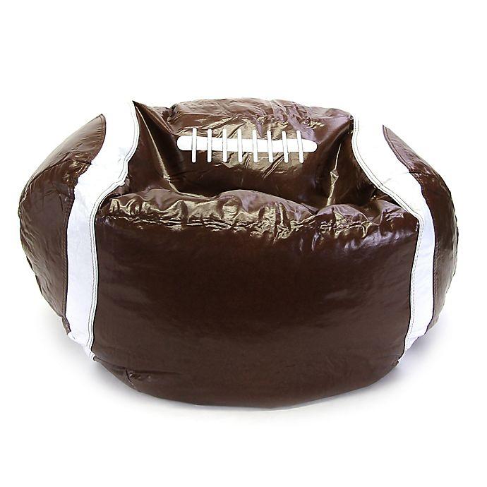 Incredible Sports Football Bean Bag Chair In Brown Bed Bath Beyond Creativecarmelina Interior Chair Design Creativecarmelinacom