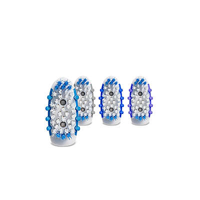 Go Smile 4-Pack Replaceable Sonic Brush Heads with Blue Light