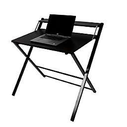 Mind Reader Folding Office Table in Black