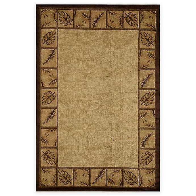 Alternate image 1 for Rugs America Capri Vera Cruz 5-Foot 3-Inch x 7-Foot 10-Inch Area Rug in Gold