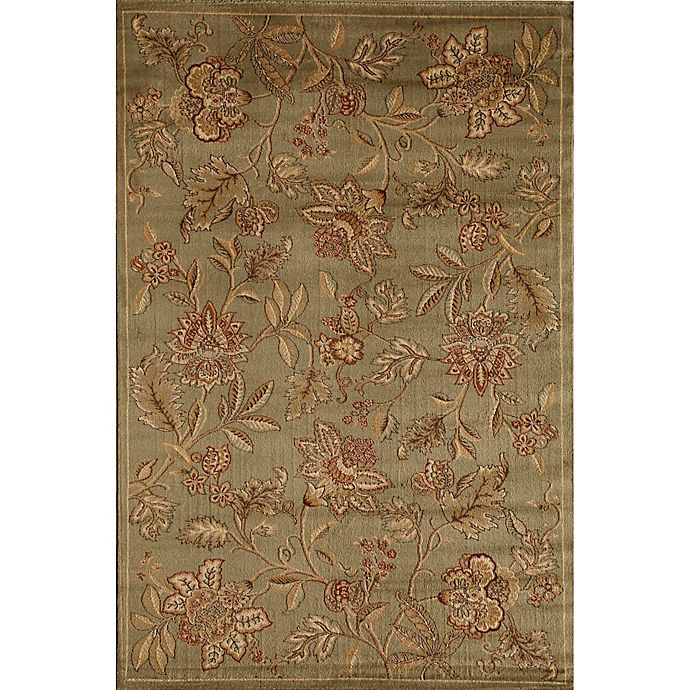 Alternate image 1 for Rugs America Capri Orchid 3-Foot 11-Inch x 5-Foot 3-Inch Area Rug in Green