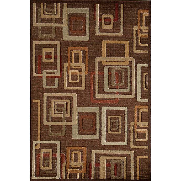 Alternate image 1 for Rugs America Capri Brandy 3-Foot 11-Inch x 5-Foot 3-Inch Area Rug in Brown