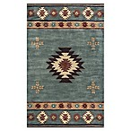Rizzy Home Southwest Center Star 3-Foot x 5-Foot Accent Rug in Grey/Blue