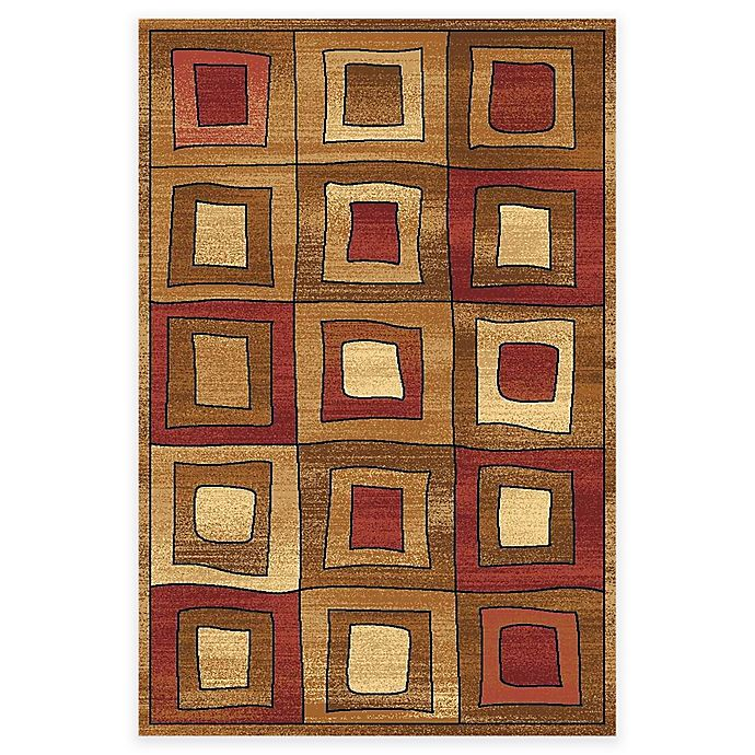 Alternate image 1 for Rugs America Capri Maverick 3-Foot 11-Inch x 5-Foot 3-Inch Area Rug in Gold