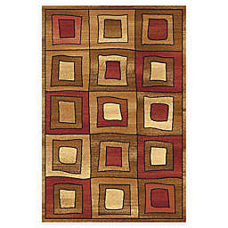 Rugs America Capri Maverick 5-Foot 3-Inch x 7-Foot 10-Inch Area Rug in Gold