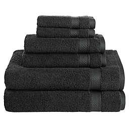 Nestwell™Hygro Cotton Solid 6-Piece Towel Set in Jet Black