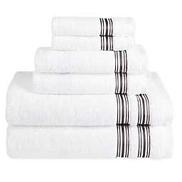 Nestwell™ Hygro Fashion Stripe 6-Piece Towel Set in Iron