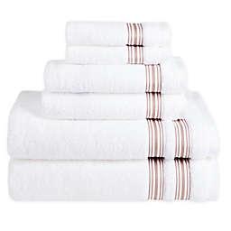 Nestwell™ Hygro Fashion Stripe 6-Piece Towel Set in Fawn