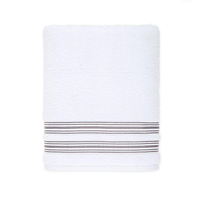 Alternate image 1 for Nestwell™ Hygro Fashion Stripe Bath Towel in Dapper Grey