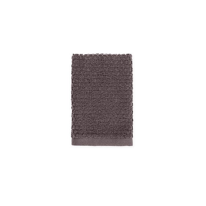 Alternate image 1 for Wild Sage™ Savannah Quick Dry Solid Washcloth in Charcoal