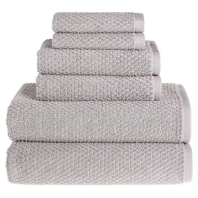 Alternate image 1 for Wild Sage™ Savannah Cotton 6-Piece Towel Set in Lunar Rock