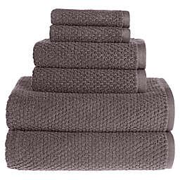 Wild Sage™ Savannah Cotton 6-Piece Towel Set in Charcoal