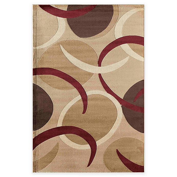 Alternate image 1 for Rugs America Capri Tex 5-Foot 3-Inch x 7-Foot 10-Inch Area Rug in Gold
