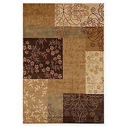 Rugs America Capri Spencer 5-Foot 3-Inch x 7-Foot 10-Inch Area Rug in Gold