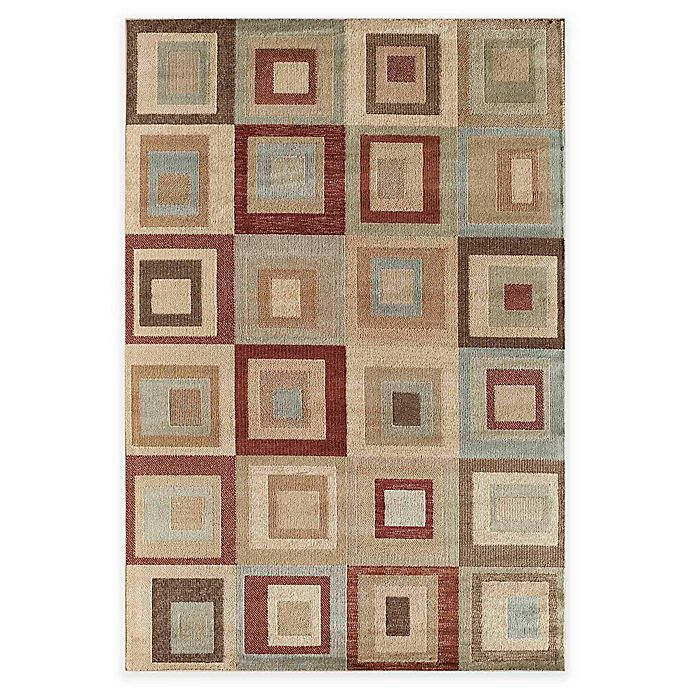 Alternate image 1 for Rugs America Capri Palmer 3-Foot 11-inch x 5-Foot 3-Inch Area Rug in Red
