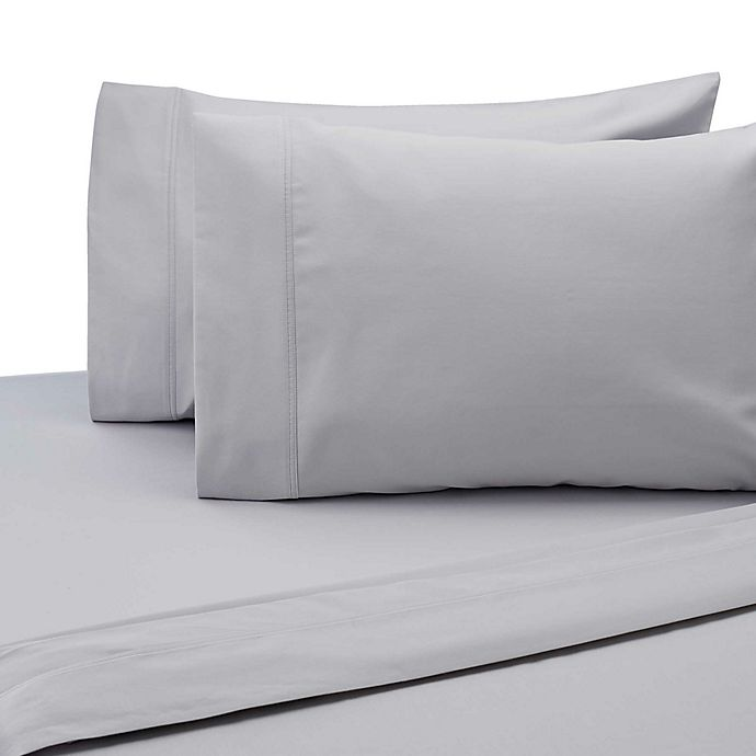 Alternate image 1 for SALT™ 300-Thread-Count Cotton Sateen King Pillowcases in Silver (Set of 2)
