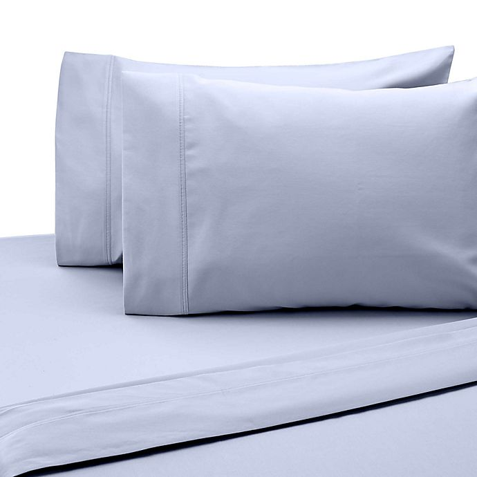 Alternate image 1 for SALT™ 300-Thread-Count Cotton Sateen Twin/Twin XL Sheet Set in Light Blue