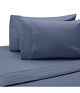 Fundas para almohadas king de algodón SALT™ de 300 hilos color azul mezclilla, 2 piezas