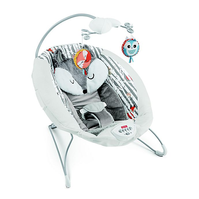 Alternate image 1 for Fisher-Price® See & Soothe Fox Deluxe Bouncer in Mint