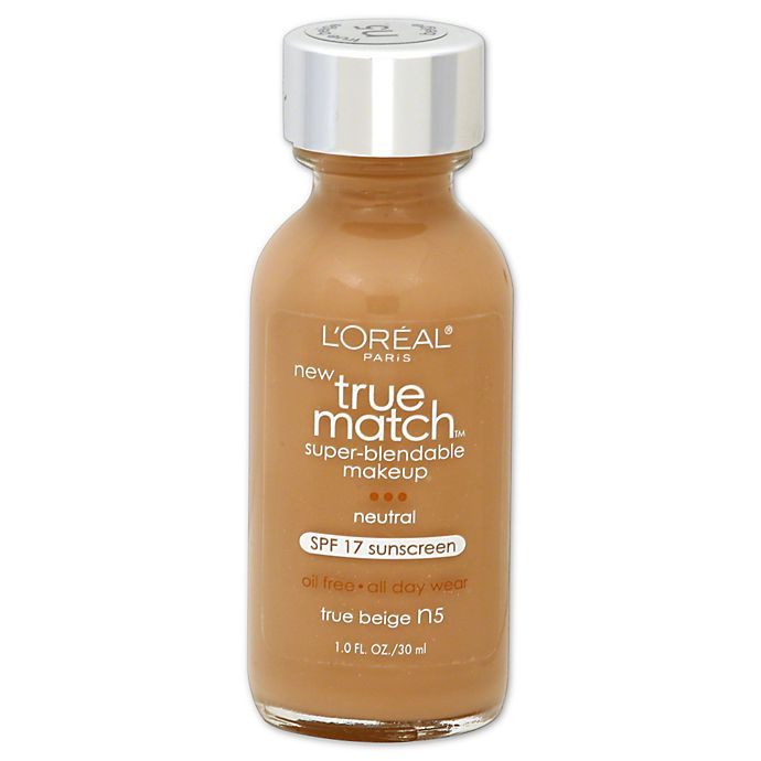 Alternate image 1 for L'Oréal® True Match 1 oz. Super-Blendable Liquid Makeup True Beige N5