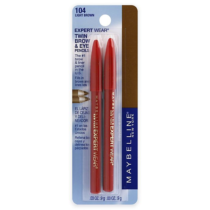 Alternate image 1 for Maybelline® Expert Wear® Twin Brow & Eye Pencils in Light Brown