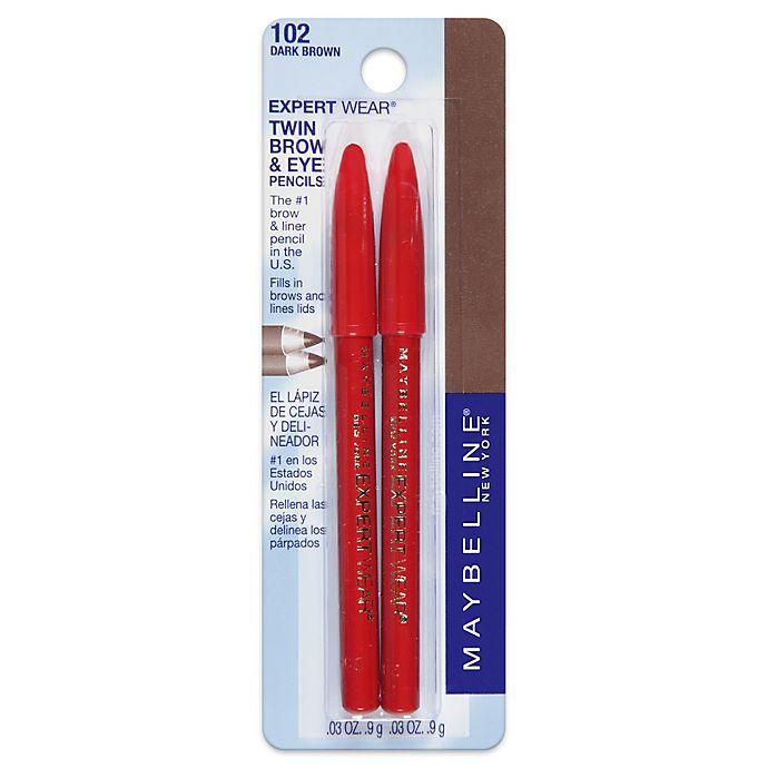 Alternate image 1 for Maybelline® Expert Wear® Twin Brow & Eye Pencils in Dark Brown