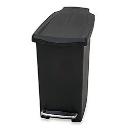 simplehuman® Mini Slim Plastic 10-Liter Step-On Trash Can