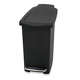 simplehuman® Mini Slim Plastic 10-Liter Step-On Trash Can