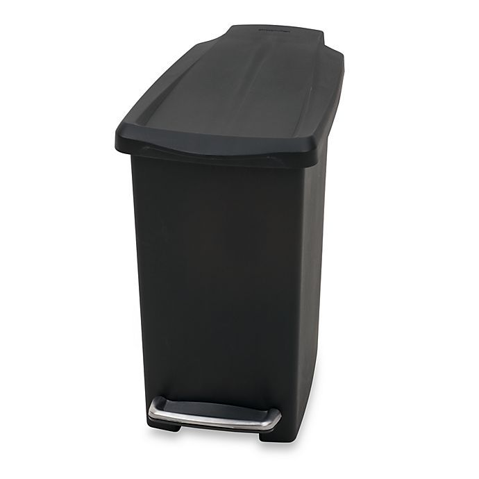 Alternate image 1 for simplehuman® Mini Slim Plastic 10-Liter Step-On Trash Can