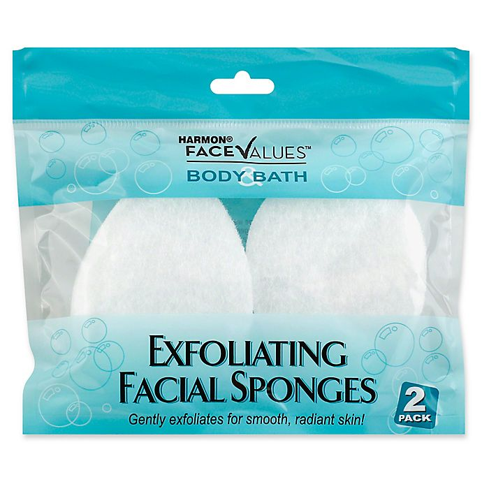 Harmon Face Values 2 Count Exfoliating Facial Sponge Bed Bath