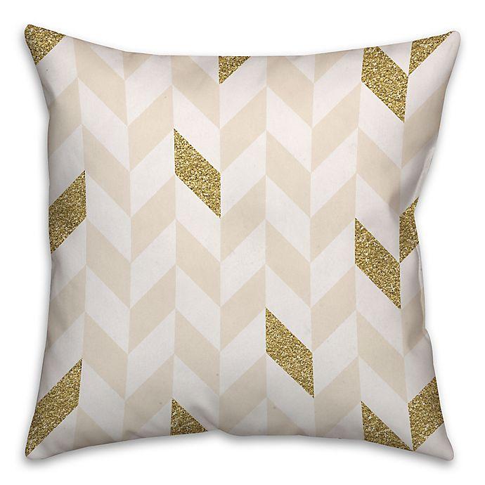 Alternate image 1 for Herringbone Pattern Square Throw Pillow