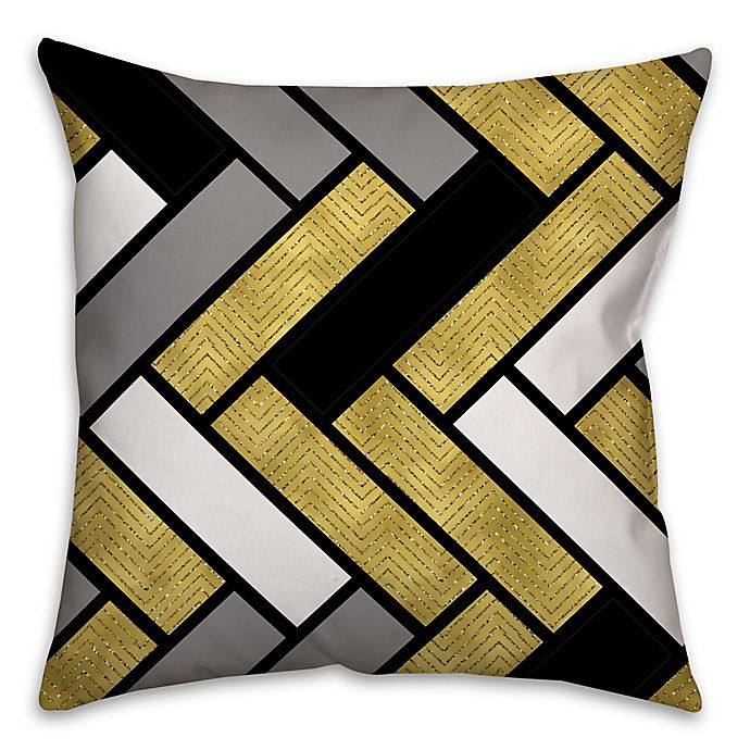 Alternate image 1 for Stacked Rectangles Square Throw Pillow in Cream/Multi