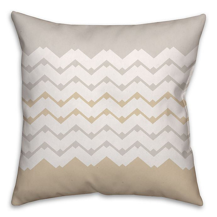 Alternate image 1 for Jagged Chevron Square Throw Pillow in Cream/White
