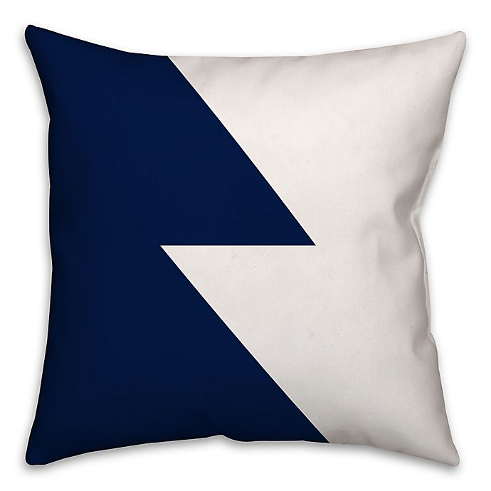 Alternate image 1 for Color Block Throw Pillow in Navy/White