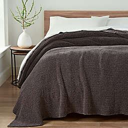 UGG® Delaney Chenille Reversible Twin Blanket in Charcoal