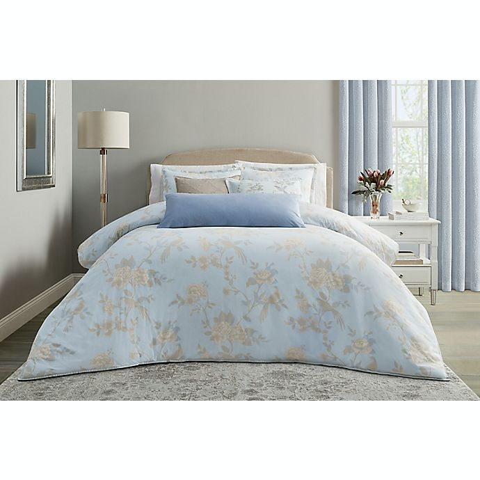Alternate image 1 for Wamsutta® Margate 3-Piece Duvet Cover Set in Illusion Blue