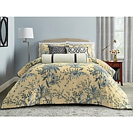 Wamsutta® Preston 3-Piece Duvet Cover Set In Seamist