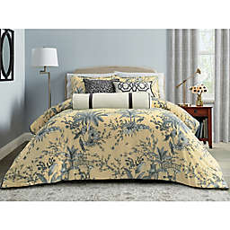 Wamsutta® Preston 3-Piece Comforter Set in Sea Mist