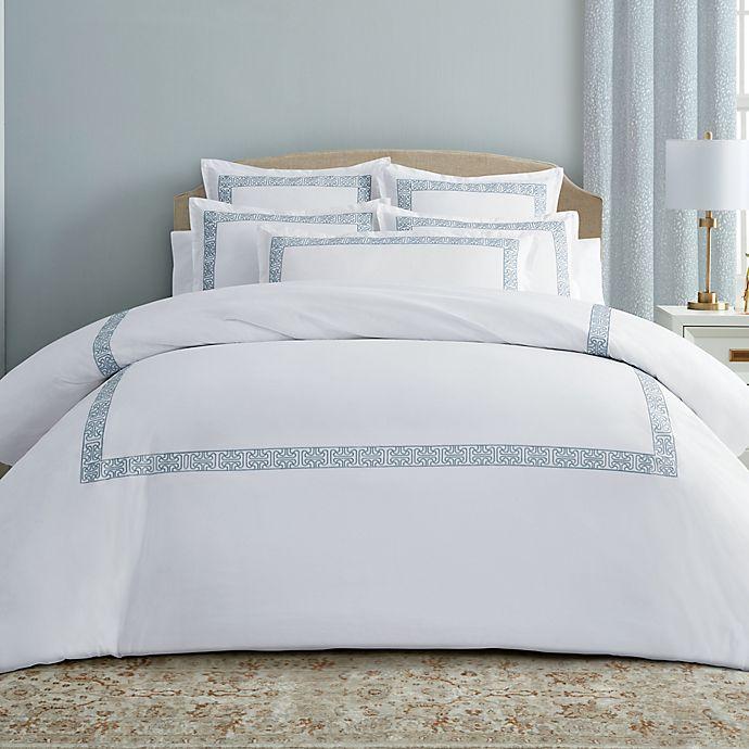 Alternate image 1 for Wamsutta® Ardsley 3-Piece Full/Queen Comforter Set in Celestial Blue